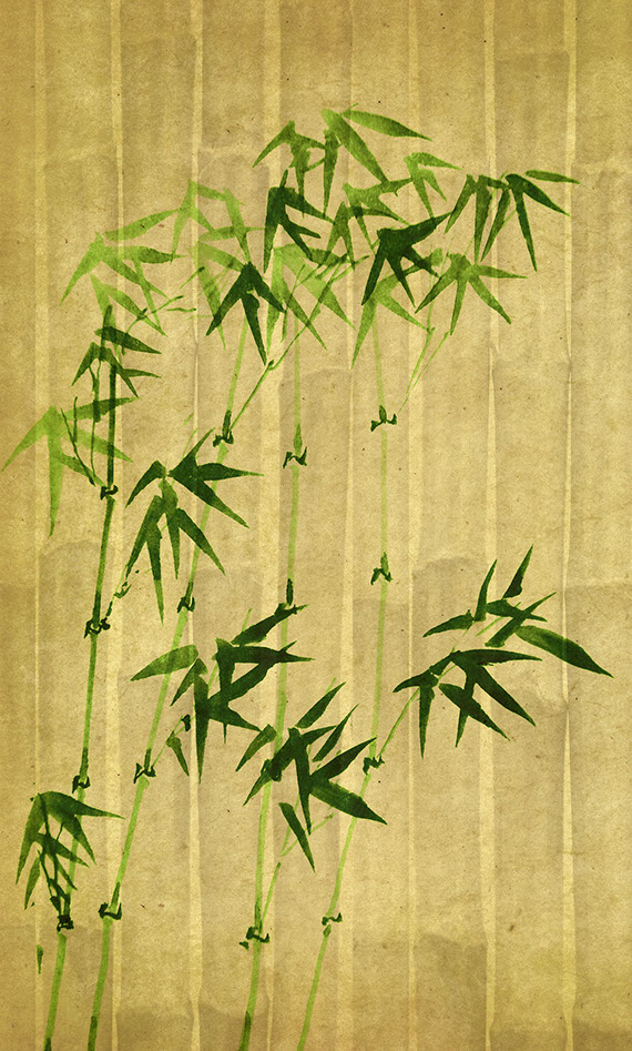 Bamboo painting, Ki Japanese antiques in Los Angeles for Japanese interior design, tea ceremony, gardens, mingei